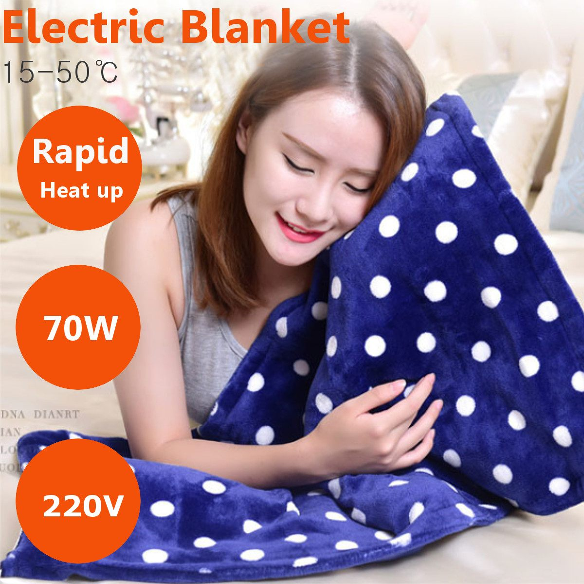 50*80cm Car Home Office Electric Warming Heating Blanket Pad Shoulder Neck Knee Mobile Heating Shawl Soft Winter Warm