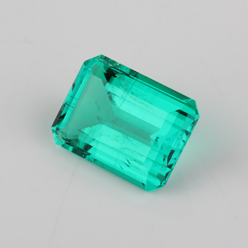 Image 2 - High Quality lab Emerald Octagon Emerald cut 7x5mm 15x11mm Hydrothermal Emerald stone For JewelryBeads