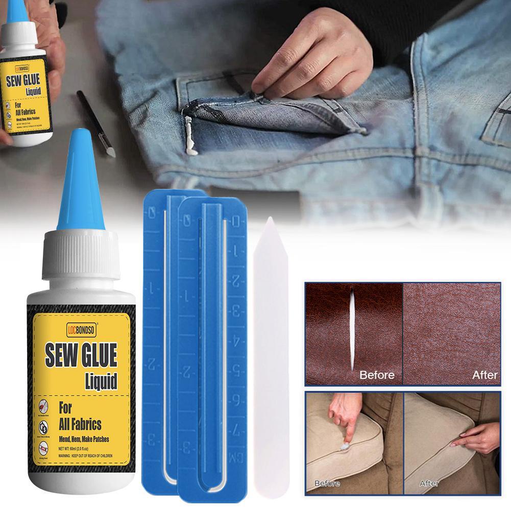 Набор для ремонта склеивания жидкого клея для кожаного текстиля, джинсовая одежда, декоративные инструменты для создания натуральной ткани|Средство для чистки кожи и обивки|   | АлиЭкспресс