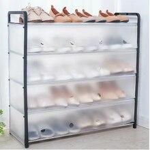 Новый многослойный полка для обуви Съемный пыле обувной шкаф домашний стоящий обеспечивает экономию места • подставка держатель для обуви...