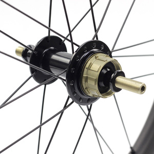 """Image 5 - Silverock عجلات الكربون 16 """"1 3/8"""" 349 ريم الفرامل 38 مللي متر الفاصلة 1 3S ل Brompton 3 ستين للطي دراجة مخصصة دراجة العجلات"""