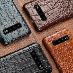 Image 5 - جلد حالة الهاتف لسامسونج S20 جدا S10 S10e S9 S8 S7 ملاحظة 8 9 10 لايت 20 A20 A30 A50 A51 A70 A71 A8 زائد التمساح غطاء