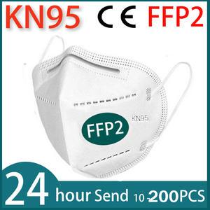 Maske Facial-Masks Mascarillas Protect FFP2 95%FILTERED KN95 10-200piece Tapabocas