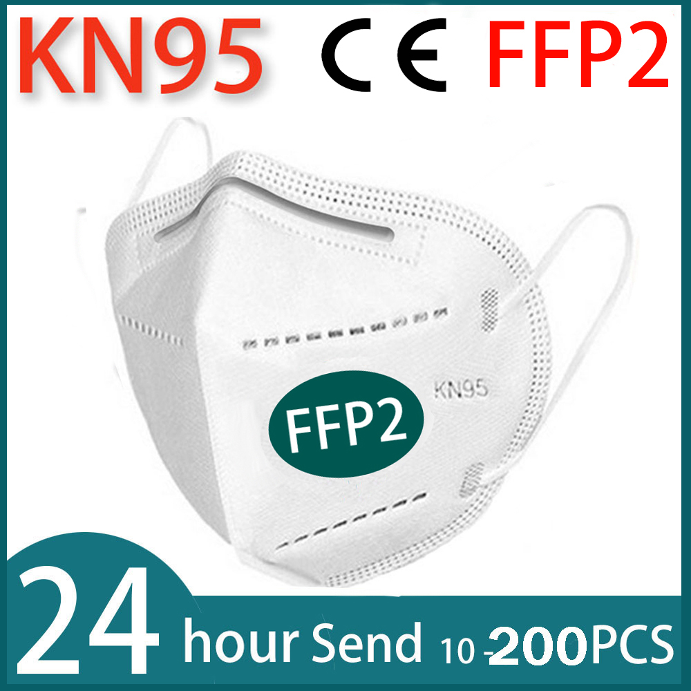 10-200 piece FFP2 facial masks  KN95 face mask protect maske anti dust mask mouth mask 95% filtered mascarillas tapabocas