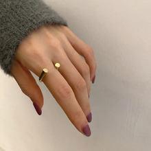 Xiyanike 925 Sterling Zilveren Koreaanse Metalen Open Gouden Ring Vrouwelijke Hoge Kwaliteit Temperament Wijsvinger Кольцо Ins Unieke Ontwerp
