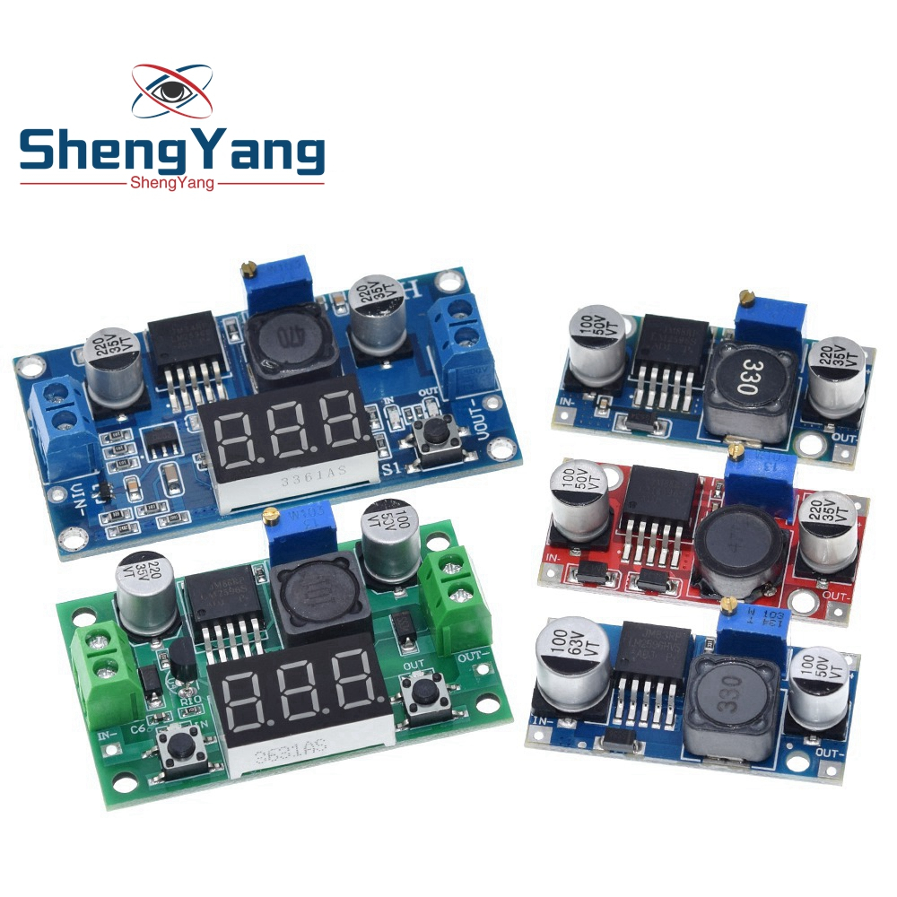 ShengYang 1PCS  LM2596 LM2596S DC-DC Adjustable Step-down Power Supply Module NEW ,High Quality