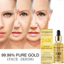 30ml 24K Gold Face Serum Moisturizer Essence Whitening Anti Aging Anti Wrinkle F