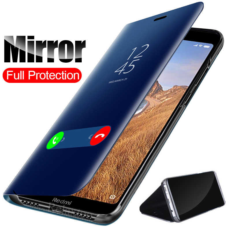 Mirror Flip Case redmi 7a Cover stand coque for xiaomi redmi note 7 case xiomi xaomi xiami red mi note7 7 a a7 redmi7 book funda