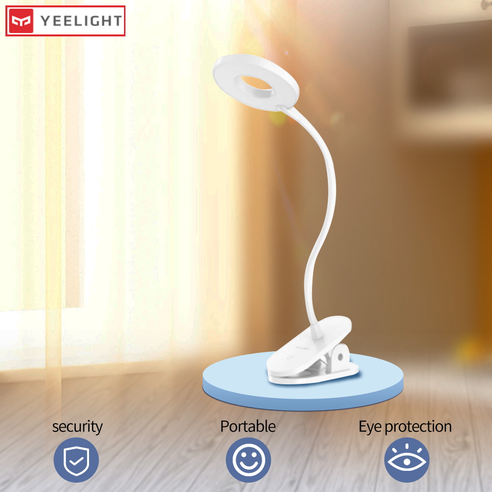 Yeelight Table Lamp LED Desk Lamp Moon Lamp Night Light USB Rechargeable 5W 360 Degrees Adjustable Dimming Reading Lamp