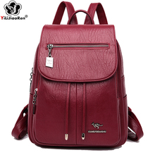 Fashion Backpack Women Lady Backpack Shoulder Bag Leather Backpack Anti Theft Large School Bags for Teenage Girls Mochilas Mujer