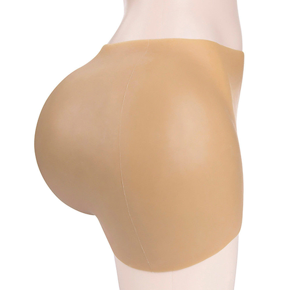 110cm New Informtion Full Silicone Hips Ass Enhancer Shaper Panty Shaped Has 3 Size Thinckness Beige Pants Mens False Butt