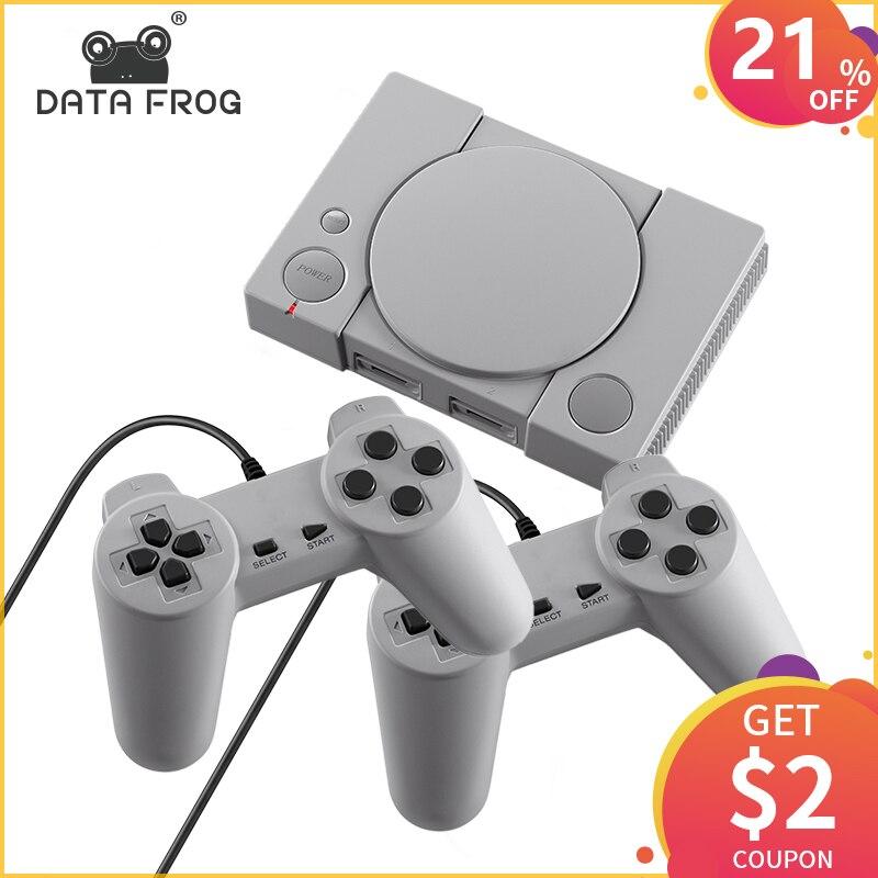 DATA FROG Mini 620 Console de jeux vidéo rétro Double joueurs 8 bits Support AV Out Family TV contrôleur de jeux rétro