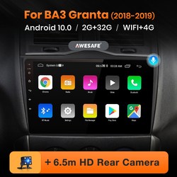 AWESAFE PX9 for LADA BA3 Granta Cross 2018 2019 Car Radio Multimedia video player GPS No 2 din Android 10.0 2GB+32GB