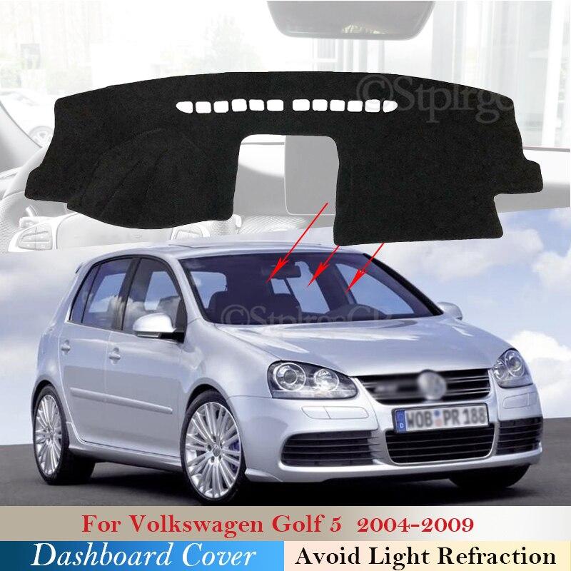 Dashboard Cover Protective Pad for Volkswagen VW Golf 5 2004~2009 Car Accessories Dash Board Sunshade Carpet Anti-UV 2008 2007