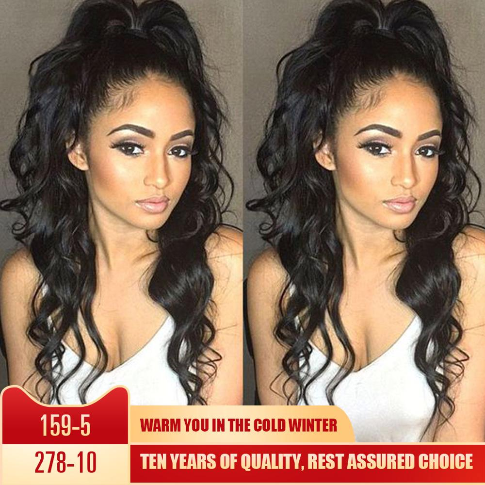 360 Lace Frontal Wig Brazilian 26inch Remy Megalook Body Wave Lace Frontal Human Hair Wig Pre Plucked With Baby Hair