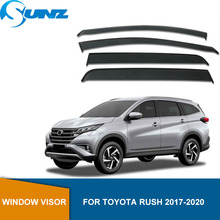 Injections Window Shield Cover For Toyota RUSH 2017 2018 2019 2020 window visors Sun Shade Awnings Shelters Guards  SUNZ цена 2017