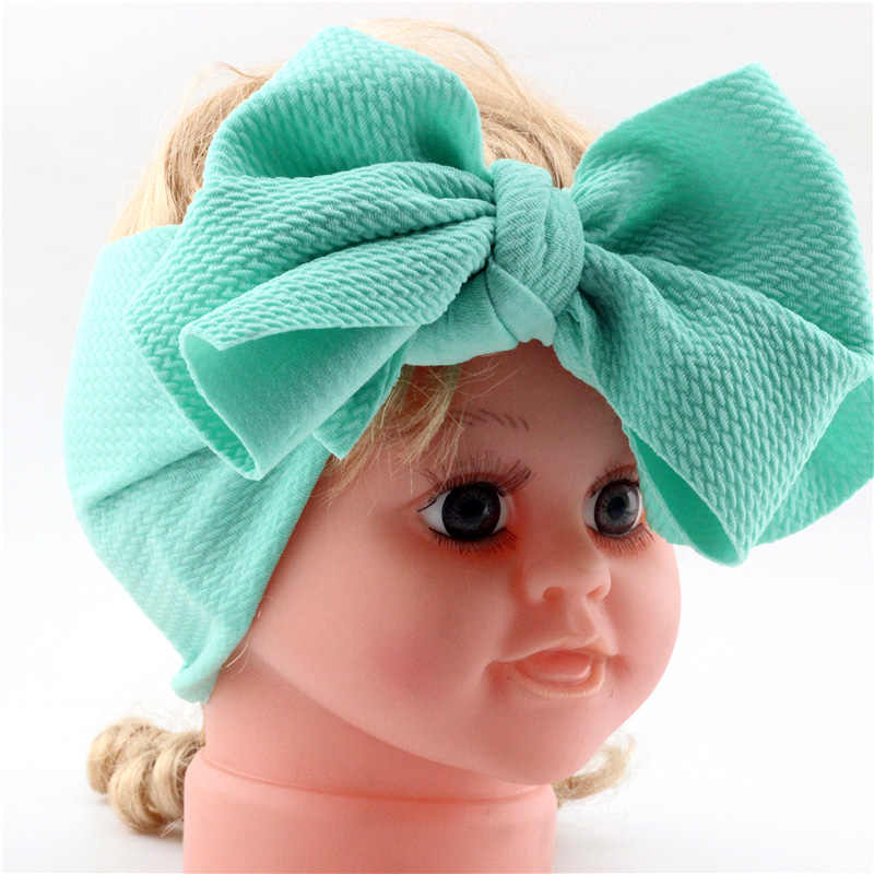חדש תינוקות בגימור יילוד פעוטות תינוקת Headwear ילד מוצק Bowknot רך טורבן Knot סרט תינוק מקלחת מתנות