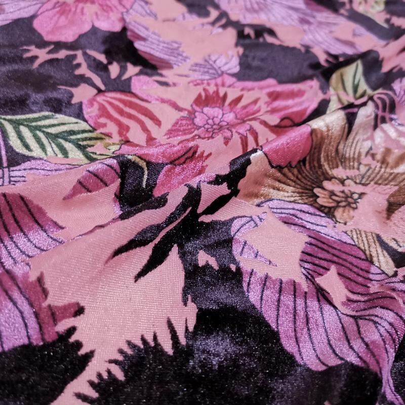 Lote de Trabajo de venta 10 metros púrpura-Crushed Velvet Tapicería//telas Cortina