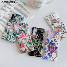 Finger Ring Holder Plating Flower Phone Cases For Huawei P30 Pro P20 Lite Mate 30 Pro 20 Lite Case Silicone Soft TPU Back Cover plating tpu phone case for huawei p20 pro p30 pro p40 gloryv20pr pro soft silicone upscale phone cases mobile phone accessories