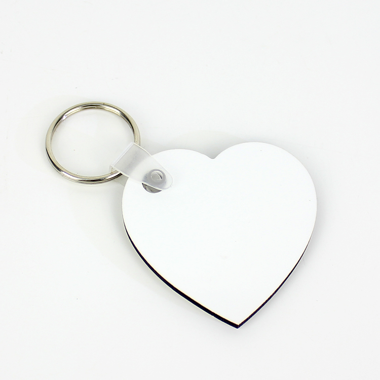 Sublimação em branco chaveiros duplo coração mdf