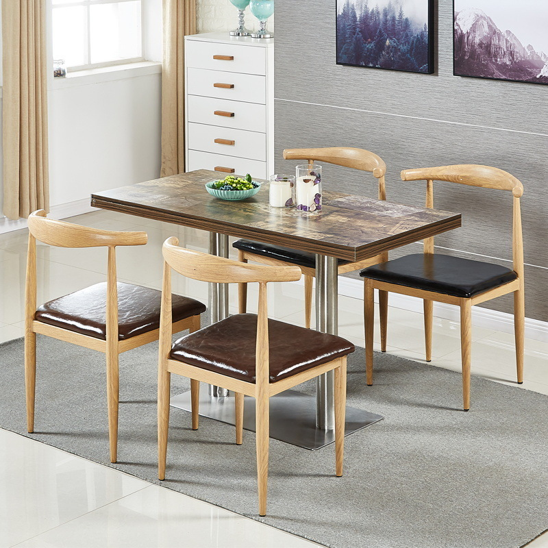 Chair Coffee Shop Table And Chair Milk Tea Shop Fast Food Restaurant Table And Chair Hotel Furniture Back Chair Dining Chair