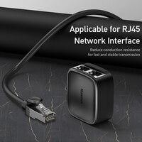 Baseus RJ45 Connter Ethernet Adapter Anti-Thunder Female to Female RJ45 Extension for Router Ethernet Cable Cat5 RJ45 Splitter