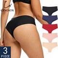 CINOON 3 Teile/los Nahtlose Panty Set Unterwäsche Weibliche Komfort Dessous Fashion Low-Rise Briefs Höschen Frauen Sexy Dessous