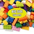 60-360 Pcs Große Größe DIY Bausteine Kompatibel Bau Blöcke Zubehör Pädagogisches Spielzeug für Kinder