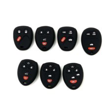 Car Silicone Remote Key Fob Shell Cover Case For Buick GMC / Cadillac / Oldsmobile / Chevrolet / Pontiac / Saturn / Hummer(China)