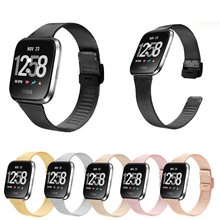 for Fitbit Versa Watchband Stainless Steel Metal Smart Watch Strap Watch Band Replacement Wristband for Fitbit Versa Bracelet watchband for fitbit versa strap genuine leather wrist smart watch band for fitbit versa band bracelet accosseries