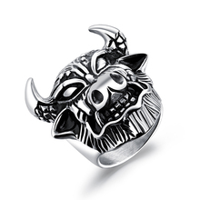 Titanium Steel Zodiac Bull Head Ring Bull Devil Ring Stainless Steel Tide Boy Punk Wind Ring Party Accessories Jewelry VR606 stainless steel devil eye shape ring page 6