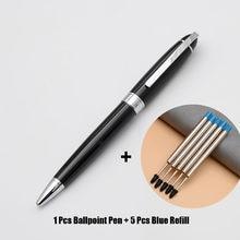 High Quality Rolllerball Pen 1Pcs Rotating Metal Ballpoint Pen Stationery Ballpen 1.0mm Black Ink Office & School Supplies