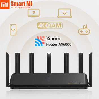 New Xiaomi Mi Router AX6000 2.4G 5G Dual Band 512MB Wifi Repeater 6 Independent Signal Amplifiers 2500M Ethernet Port 6000M Rate