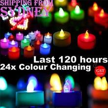 24x светодиодный светильник для чая в форме свечи 120 часов