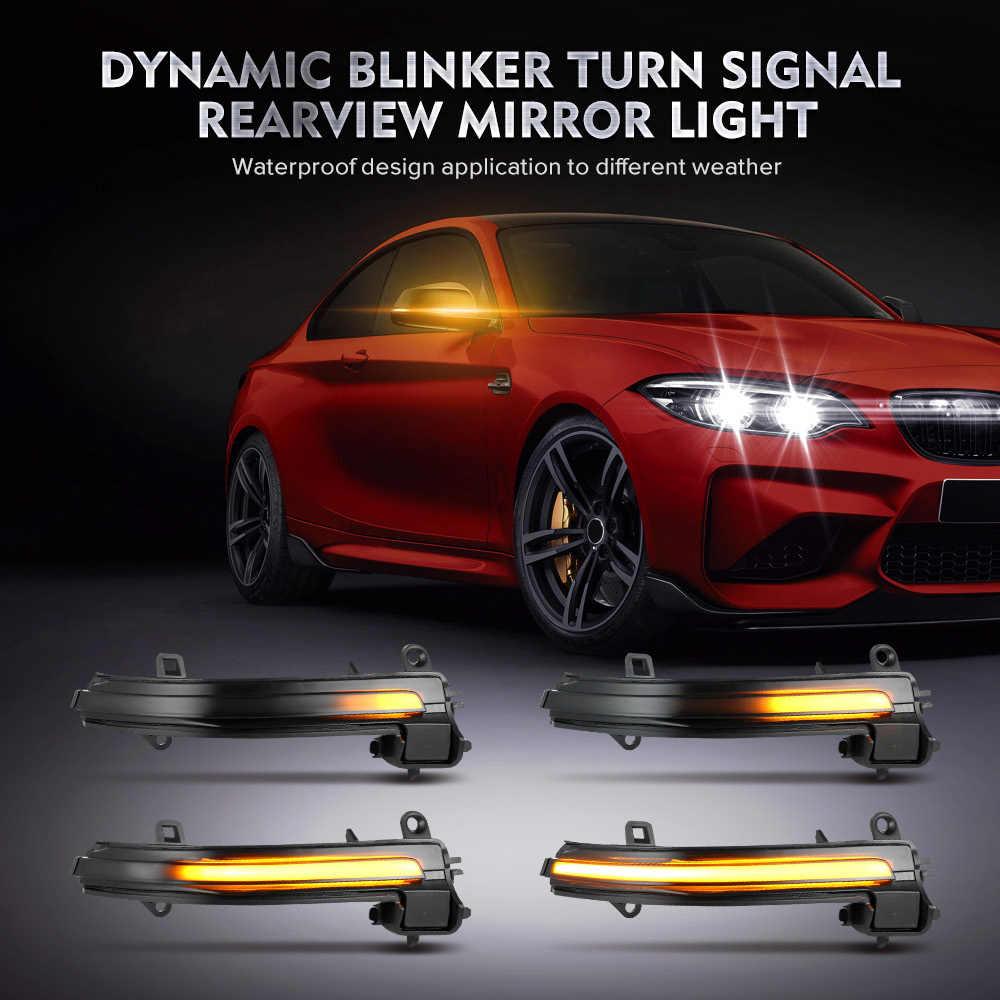 RJJX Steering 2pz segnali dinamico LED Specchietto retrovisore Indicando Flash Misura for BMW F20 F30 F31 F21 F22 F23 F32 F33 F34 X1 E84 1 2 3 4 Emitting Color : Yellow