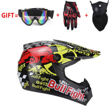 Off Road Helmet Full Face Motorcycle Helmet Men Moto Riding ABS Material Motocross Motorbike