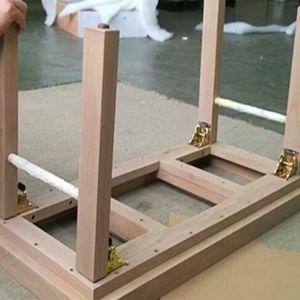 Image 3 - 4 paket kilidi açılır kapanır masa yatak bacak ayak çelik katlanır katlanabilir destek braketi vida
