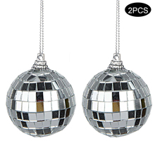 2pcs/set Diameter 10cm Mirror Ball Reflective Decorative Bar Disco Wedding glass