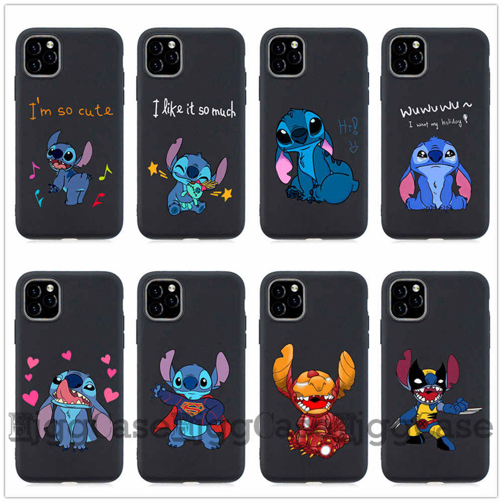 Telefoon Geval Cartoon Leuke Stich Stitch Voor iPhone X XR XS 11 Pro MAX 5S SE 7 8 6 6s Plus Zachte Siliconen TPU Cover Coque Fundas case