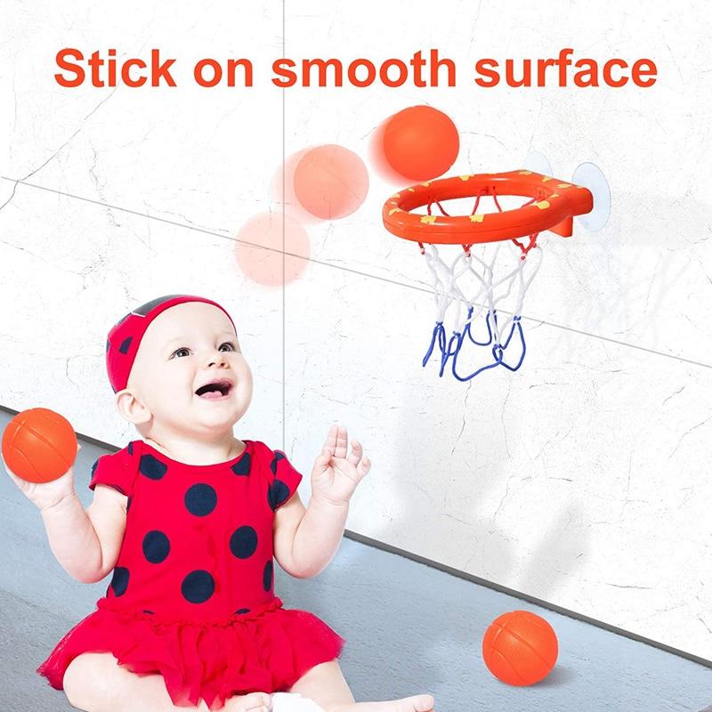 Toddler Bath Toys Kids Shooting Basket Bathtub Water Play Set for Baby Girl Boy with 3 Mini Plastic Basketballs Funny Shower 6