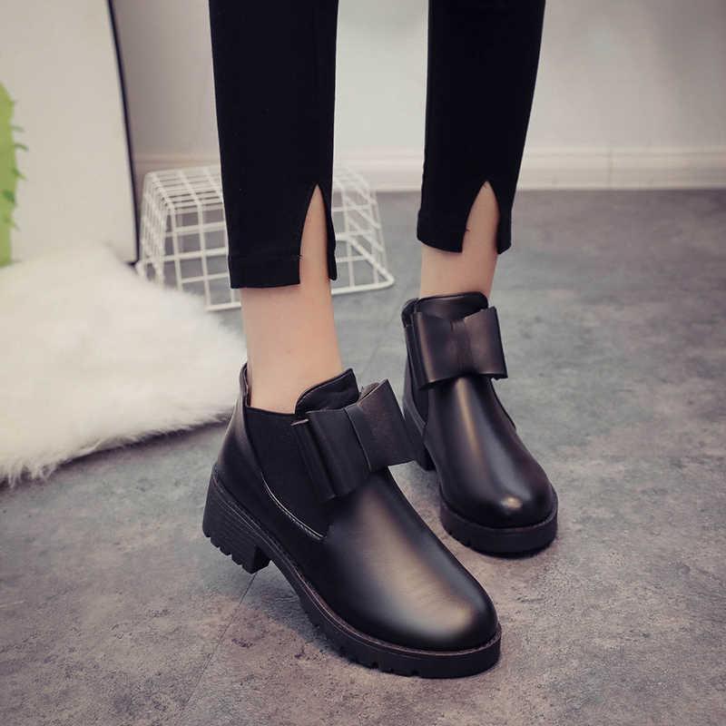 Fujin kadın ayakkabı Patent deri çizmeler siyah yüksek kaliteli sığ rahat Fleeces moda patik sonbahar bahar Dropshipping