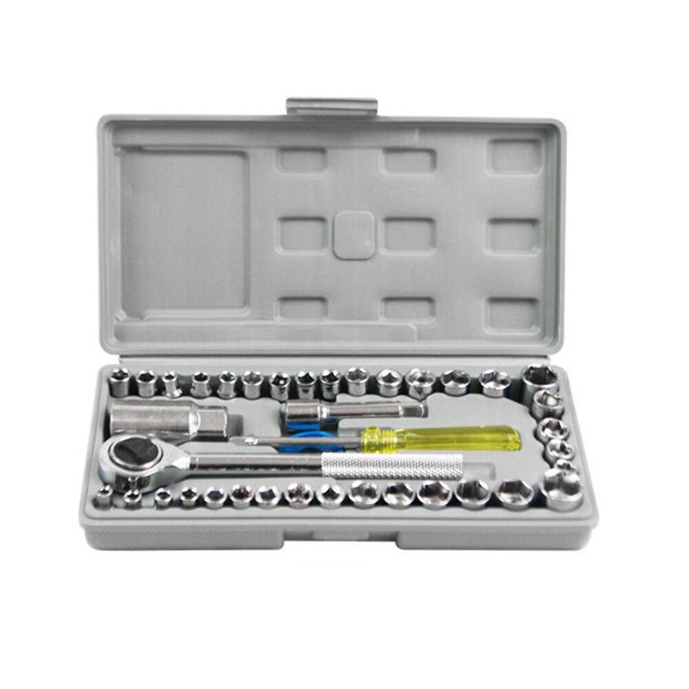 40 шт./кор. автомобиля комбинированная интегральной ковки автомобиль установлен ящик для инструментов автомобильный ящик для хранения мотоцикл практичные аксессуары для ремонта