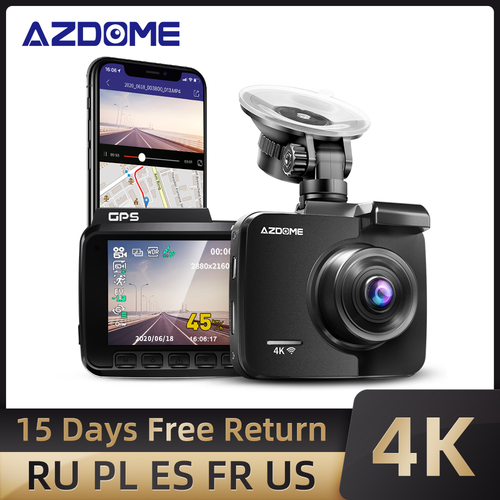 Permalink to AZDOME GS63H Dash Cam Dual Lens 4K UHD Recording Car Camera DVR Night Vision WDR Built-In GPS Wi-Fi G-Sensor Motion Detection