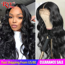 Wig Human-Hair-Wigs Lace-Frontal Remy-Closure Body-Wave 250-Density Women RXY for 360
