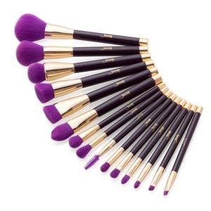 Image 3 - Jessup Makeup Brushes Set 15pcs Blue/Purple Powder Eyeshadow Eyeliner Contour Foundation Cosmetic pincel maquiagem Dropshipping