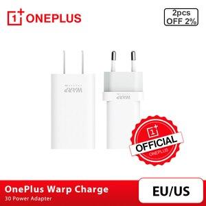 Image 1 - Original OnePlus Charge de chaîne 30 adaptateur dalimentation chaîne 30W chargeur ue câble de chargeur ue US Charge rapide 30W pour OnePlus 8 7 7T 8 Pro