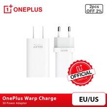Original OnePlus urdimbre de carga 30 adaptador de corriente urdimbre 30W EU cargador para EUA Cable de carga rápida 30W para OnePlus 8 7 7T 8 Pro