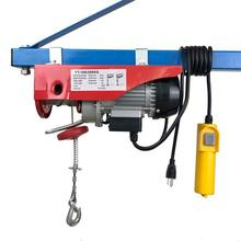220lb/440lb Mini Electric steel Wire rope Hoist Remote Control Garage Auto Shop Overhead lifting mini block, crane equipment 600kg permanent magnetic lifter heavy duty steel lifting magnet hoist crane ce certified