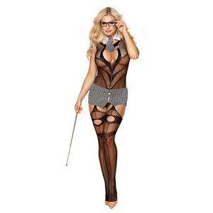 Image 5 - סקסי תלבושות נשים סקסי הלבשה תחתונה בגד גוף פורנו Babydoll המפשעה פתוח חזייה פתוח מפשעת בגד גוף חם ארוטית סקס תחתונים