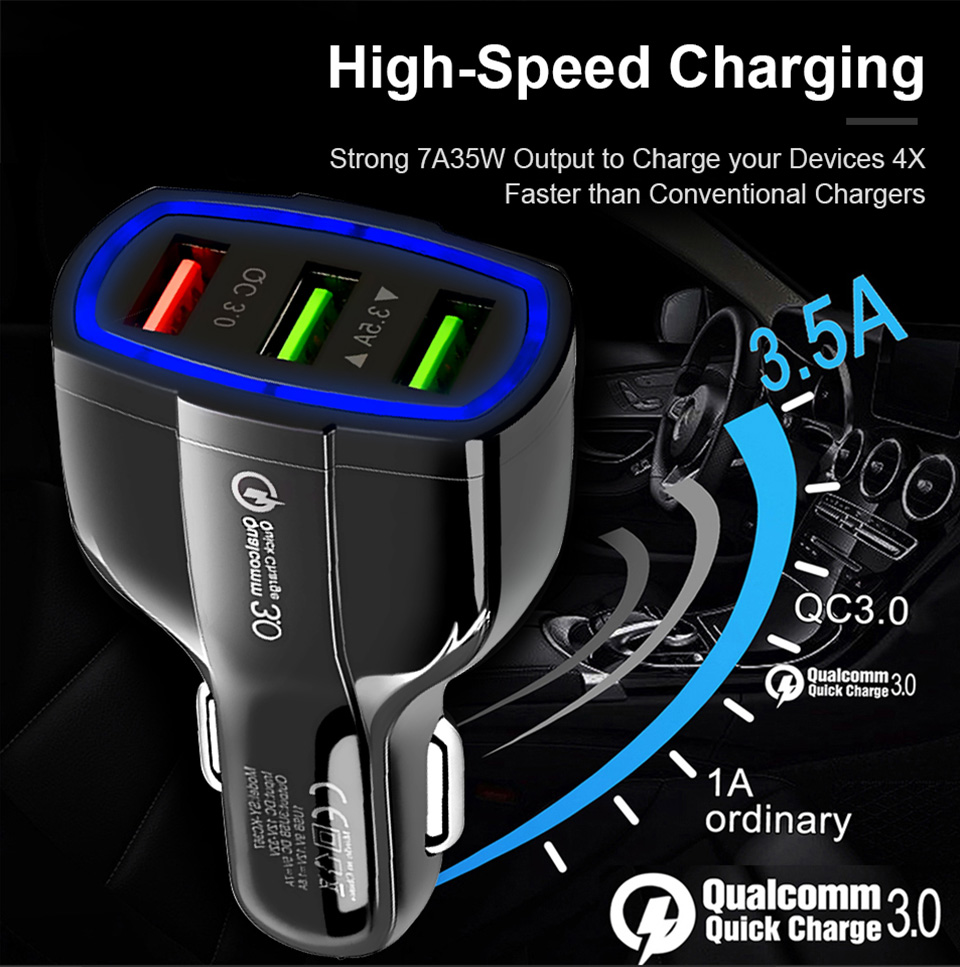 <font><b>USB</b></font> <font><b>Charger</b></font> 3.0 <font><b>5V</b></font> 2A Quick Turbo Fast Charging Car Mobile Phone <font><b>Wall</b></font> <font><b>Charger</b></font> for iPhone 5 6 iPad Samsung Xiaomi HuaWei Charge image